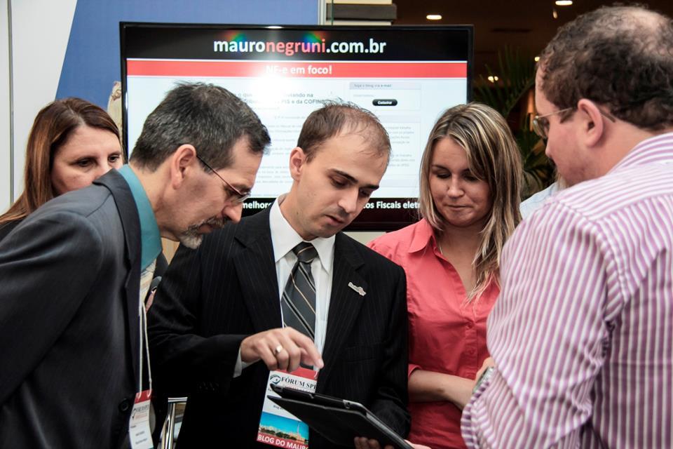 Autores do Blog do Mauro Negruni interagiram e tiraram dúvidas dos prticipantes do Fórum SPED