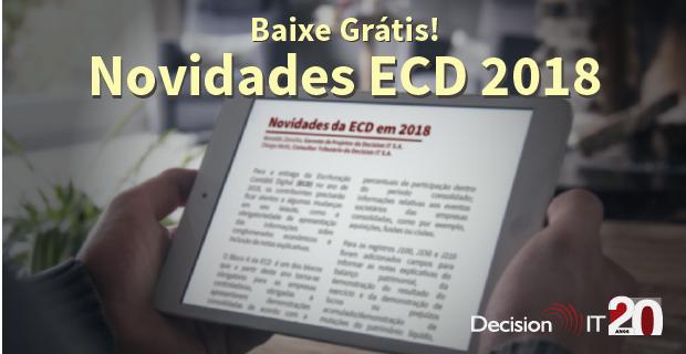 Baixe grátis o guia com as novidades da ECD 2018